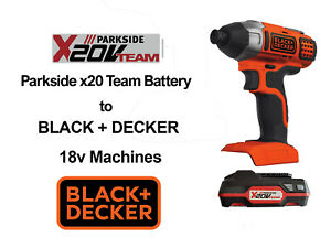 Parkside x20 Battery to Black and Decker