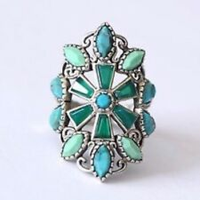 Silpada Sterling Silver Turquoise Agate Kaleidoscope Ring Sz 6 R2870 $114 Star