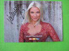 Autogrammkarte - Valentina Pahde - GZSZ - orig. autogr.