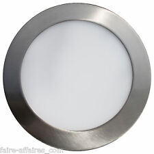 Applique spot encastrable rond 19W LED (78w) 1120 lumen aluminium brossé 240x240