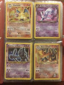 Pokemon Vintage Binder Lot - Shining Mewtwo, Base Set Charizard + Rare Holos!