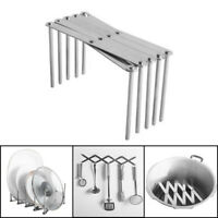 Retractable Storage Rack Stainless Steel Folding Kitchen Gadget Steaming Rack