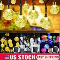 20/30 LED Solar String Ball Lights Outdoor Waterproof Warm White Garden Decor US