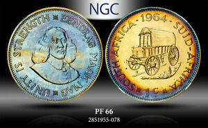 1964 SOUTH AFRICA 1 CENT NGC PF 66 PROOF ***TONED***