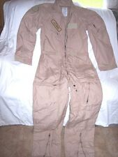 MILITARY FLIERS COVERALLS 42 Long SAGE GREEN CARTER IND. FLIGHT SUIT 97% ARAMID