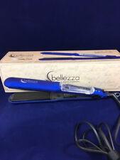 "New with Defects Bellezza 1.25"" Argan Vapor Flat Iron in Metallic Blue"