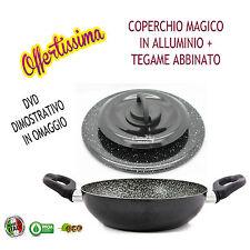 COPERCHIO MAGICO  ALLUMINIO DN.28 + TEGAME ANTIADERENTE DN.28