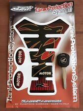 99-15 Blank Key Uncut Honda CBR1000RR 1100XX CBR600RR F4. Black Key & Tank Pad