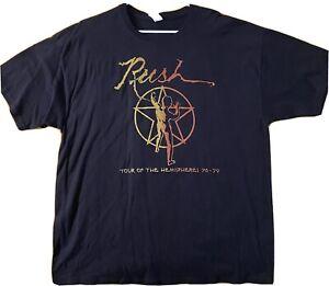 Rush Tour Of The Hemispheres 78-79 Shirt Size XL OOP Rare