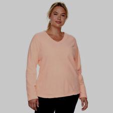 04813889d04 TEK Gear Microfleece V-neck Top Bright Coral Pullover Women s 3x Very Soft