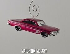 Classic '61 Chevy Impala Christmas Ornament 1/64th Chrome Muscle Car Chevrolet
