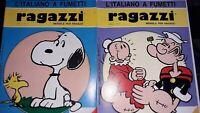 """Lot de 14 revues """"Ragazzi"""" l italiano a fumetti 1984 /1987"""