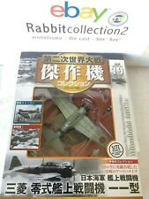"DIE CAST "" MITSUBISHI A6M2a "" WW2 AIRCRAFT COLLECTION FIGHTER 1/72 (19)"