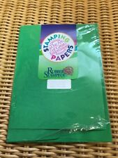 Rubber Stampede Stamping Papers M325 Green 6 Envelopes/1 Notecard Opened
