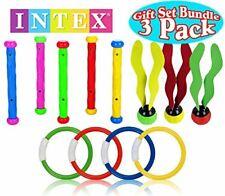 Intex Underwater Swimming/Diving Pool Toy Rings (4 Rings), Diving Sticks (5 S.