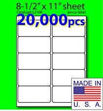 L210R, 20,000 Shipping Address / Laser InkJet Label, 4x2
