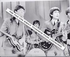 1964 B/W 8x10 Photo BEATLES RINGO on Stage Deauville Hotel Miami Ed Sullivan