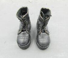 1/6 Scale Toy HELLBOY - Large Black Combat Boots (Foot Type)
