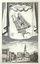 Antique map, De Beurs