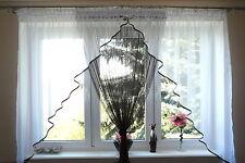 Prêt À L'emploi Rideau De Fenêtre Voile Fil Fils rideau 150 x 400 cm Vert AG3