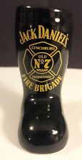 Jack Daniel's Fire Brigade Black Boot Shot Glass  Lynchburg Tennessee Old No. 7