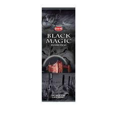 HEM BLACK MAGIC INCENSE STICKS HEX TUBES 6 PACKS X 20 STICKS = 120 STICK - 8235