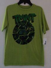 TMNT Ninja Half Shell Light Green Short Sleeve T-Shirt Boys Size XL FREE SHIP