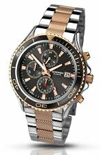 Sekonda Gents Chronograph Rose Gold and Stainless Steel Watch 1089