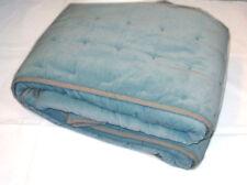 "Sky Blue Handmade Cotton Velvet Quilt Bedspread 60x90"" 150x230cm Home Furnishing"