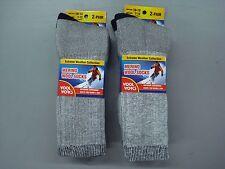 NWT Men's Wool Works 68% Merino Wool Socks 4 Pair Size 10-13 Grey/Navy #1012A