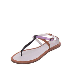 RRP €325 PAUL SMITH Leather Strappy Thong Sandals Mismatch Size L 38 R 39 Patent