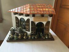 ECUADOR Nativity Scene Hand Crafted Miniature Store ~Folk Art Rustic Decor