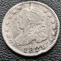 1821 Capped Bust Dime 10c Better Grade #15026