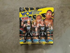 Vintage NASTY BOYS On Card WCW TAG TEAM Figures Toys 1994 WWE Toymakers MOC