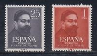 ESPAÑA (1960) NUEVO MNH SPAIN - EDIFIL 1320/21 ISAAC ALBENIZ