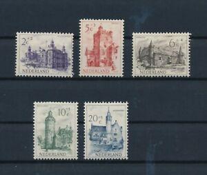 D193857 Netherlands MH Castles 1951 Sc. B224-B228