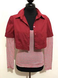 MOSCHINO Maglietta T-Shirt Donna Cotton Rockabilly Woman T-Shirt Sz.S - 40