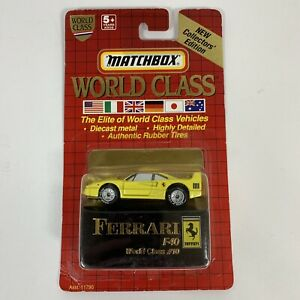 Vintage 1991 Matchbox Toys World Class #10 Ferrari F40 On Card See Description