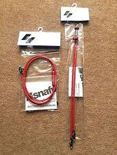 NUOVO Snafu Astroglide DUAL Superiore & Y inferiore BMX Gyro Cavo Set/Kit Rosso freno MTB