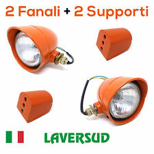 Coppia Fanali Anteriori Trattori Fiat Serie Oro + Supporti 5118924 5118923
