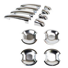 FIT FOR 04-11 SUZUKI SWIFT SX4 CHROME DOOR HANDLE CATCH COVER + BOWL TRIM CUP