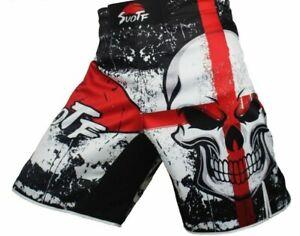 MMA black boxing skull cotton training kickboxing box men fight muay thai shorts