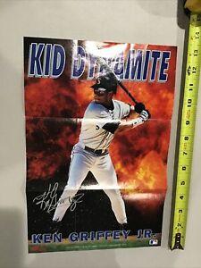1993 Ken Griffey Jr Kellogg's Cereal Baseball Poster Seattle Mariners