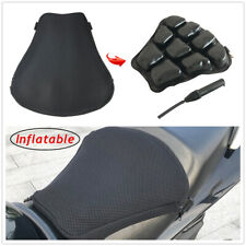 Motorcycle Seat Cushion Air Inflatable Pad Cruiser Touring Saddles Big Relief