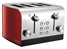 Morphy Richards 241002 Equip 1700w 4 Slice High Lift Toaster in Red - Brand New
