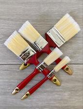 New 5PC Fine Paint Brush Set Advanced Bristles Decorating DIY Painting UK Seller
