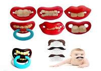 Funny Dummy Dummies Pacifiers Baby Novelty Joke Maternity Toddler Child UK