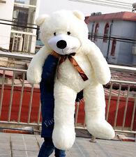 "47""Giant Big White Teddy Bear Stuffed Animals Plush Soft Toys Doll Birthday Gift"