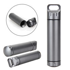 Metal EDC Survival Waterproof Pill Match Case Box Container Bottle Kits Outdoor
