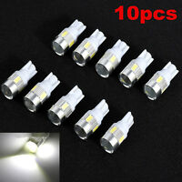 10x T10 W5W 5630 6-SMD LED Car Wedge Side Light Lamp Bulb 168 194 192 158 White